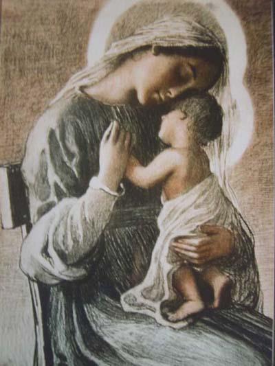María Virgen y Jesús Dios